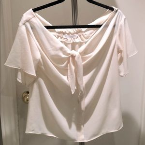 Off white bow blouse